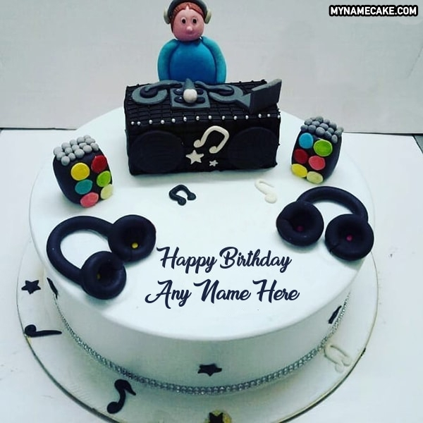 Super Write Any Name On Dj Happy Birthday Cake My Name Cake Funny Birthday Cards Online Elaedamsfinfo