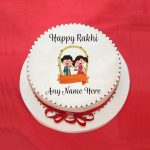 Happy Rakhi Name Cake