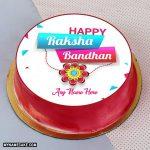 Write name on happy raksha bandhan cake