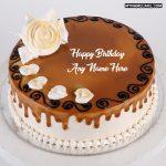 Write name on beautiful happy birthday cake