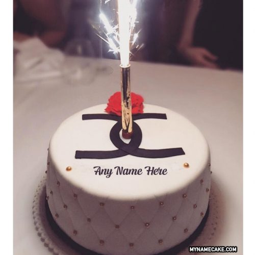 firework candles happy birthday cake.