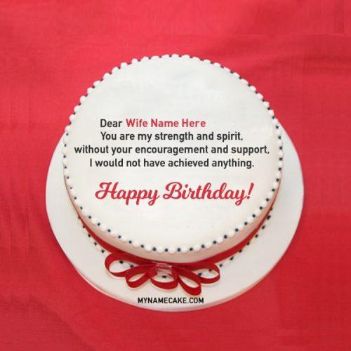 wife name cake