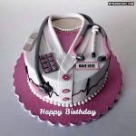 Write name on doctor's birthday cake photo