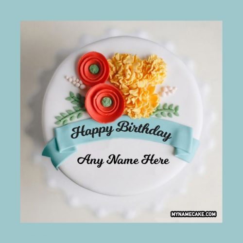 red yellow flowers name cake