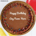 Chocolate Happy Birthday Name Cake