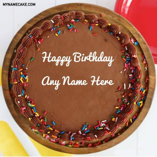 chocolate name birthday cake