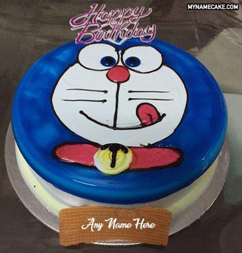 doraemon name cake
