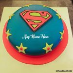 Write name on superman cake photo