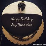 Write name on a chocolate birthday name cake