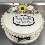 Flowers Happy Birthday Name Cake