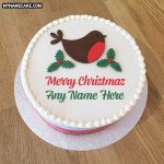 Send Christmas Wishes With Name Cake