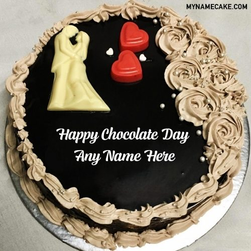 chocolate day name cake