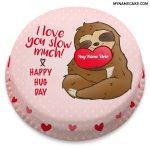 Happy Hug Day Name Cake 12th Feb