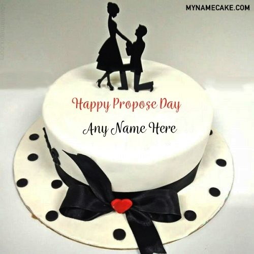propose day name cake