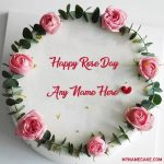 Happy Rose Day Name Cake 7th Feb