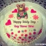 Write Name On Happy Teddy Day Cake 10th Feb