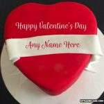 Happy Valentine's Day Name Cake