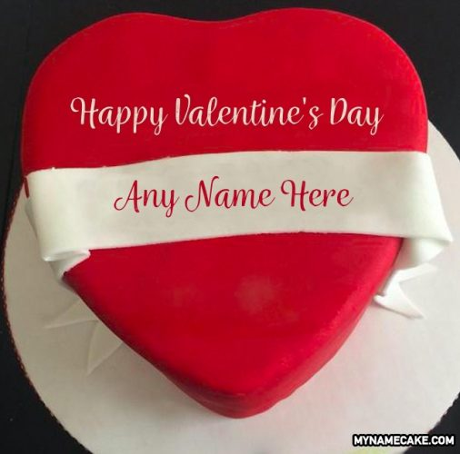 valentine's day name cake